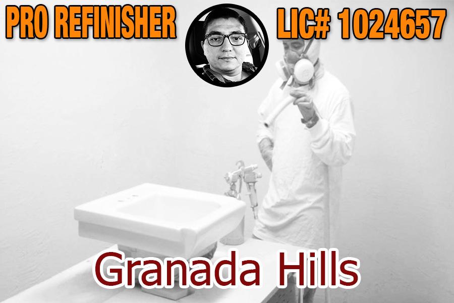 bathtub refinishing reglazing Granada Hills