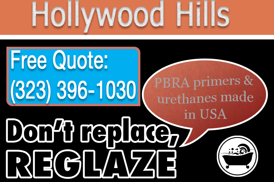 ceramic tile refinishing Hollywood Hills california
