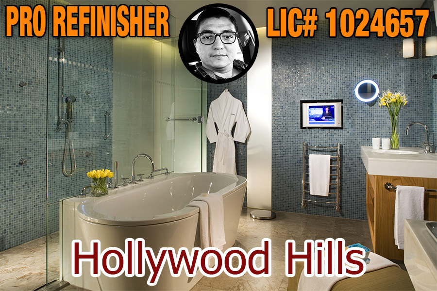 bathtub refinishing reglazing Hollywood Hills