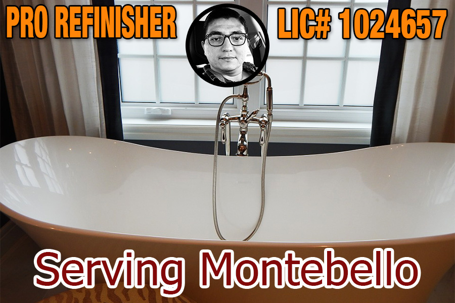 bathtub refinishing reglazing Montebello