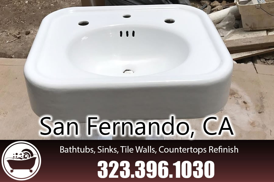 bathtub refinishing reglazing San Fernando