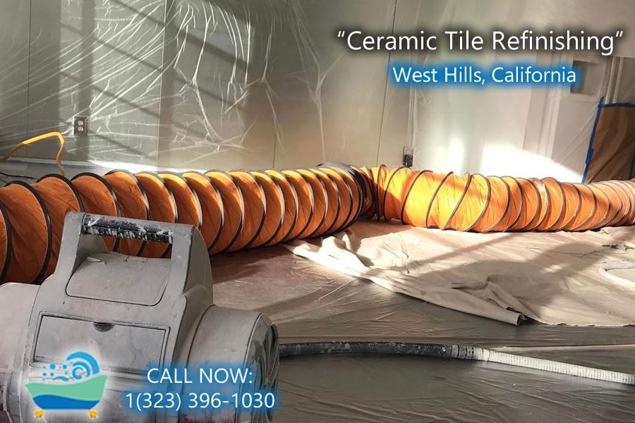 ceramic tile refiinishing West Hills california