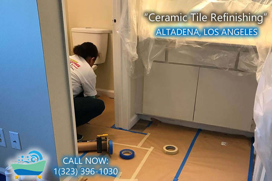 ceramic tile refiinishing Altadena california