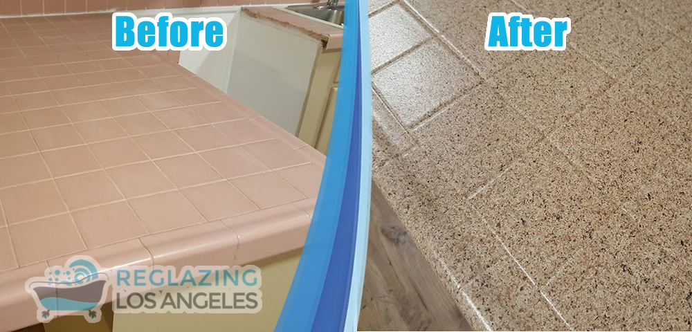 countertop resurfacing service before after