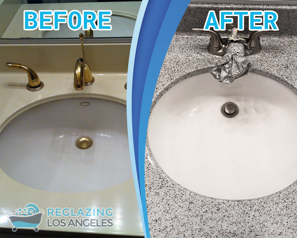 kitchen bathroom sink reglazing service