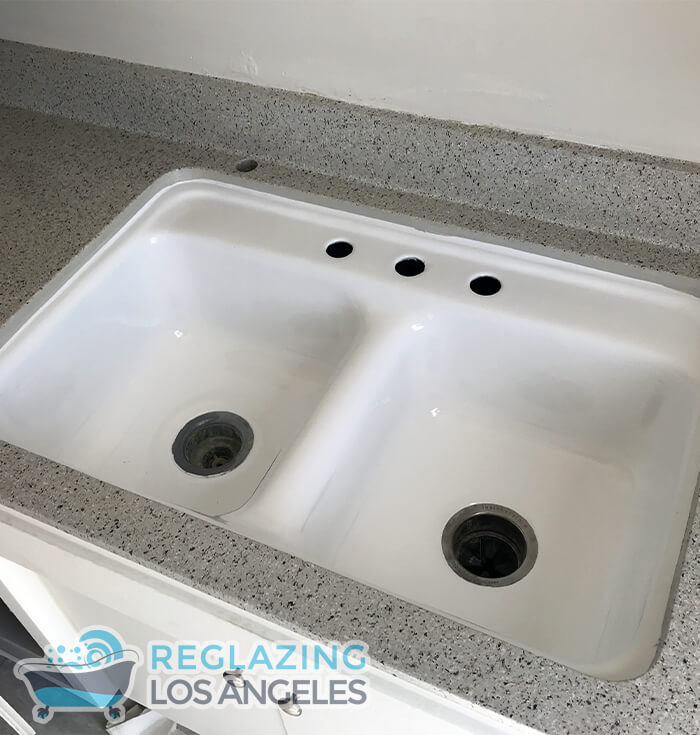 kitchen double sink reglazing los angeles
