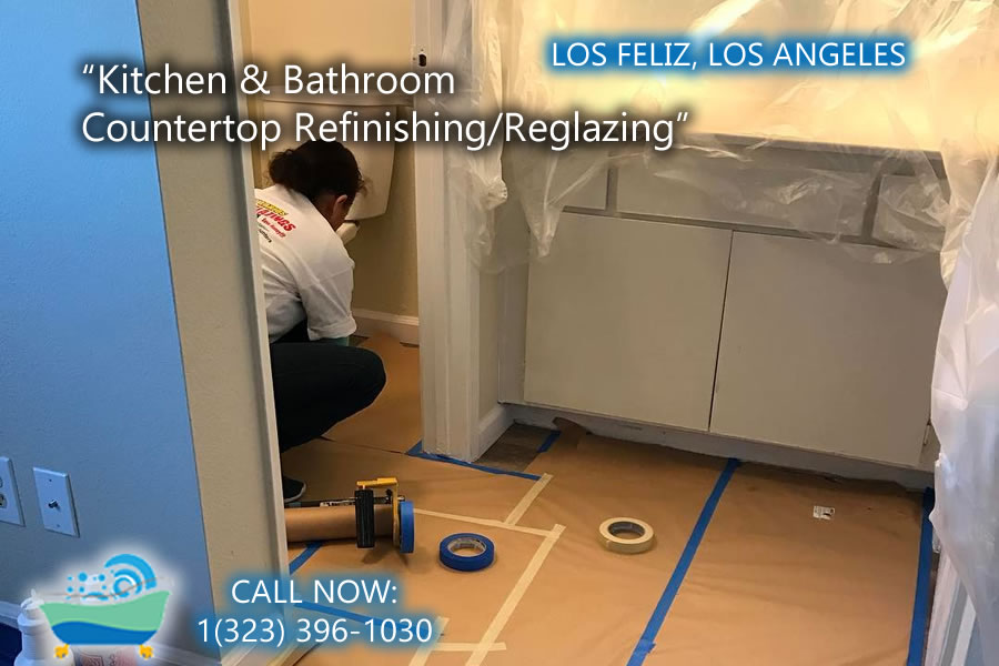 Los Feliz kitchen and bathrubs reglazing