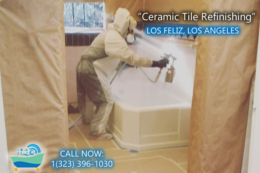 Los Feliz ceramic tile refiinishing