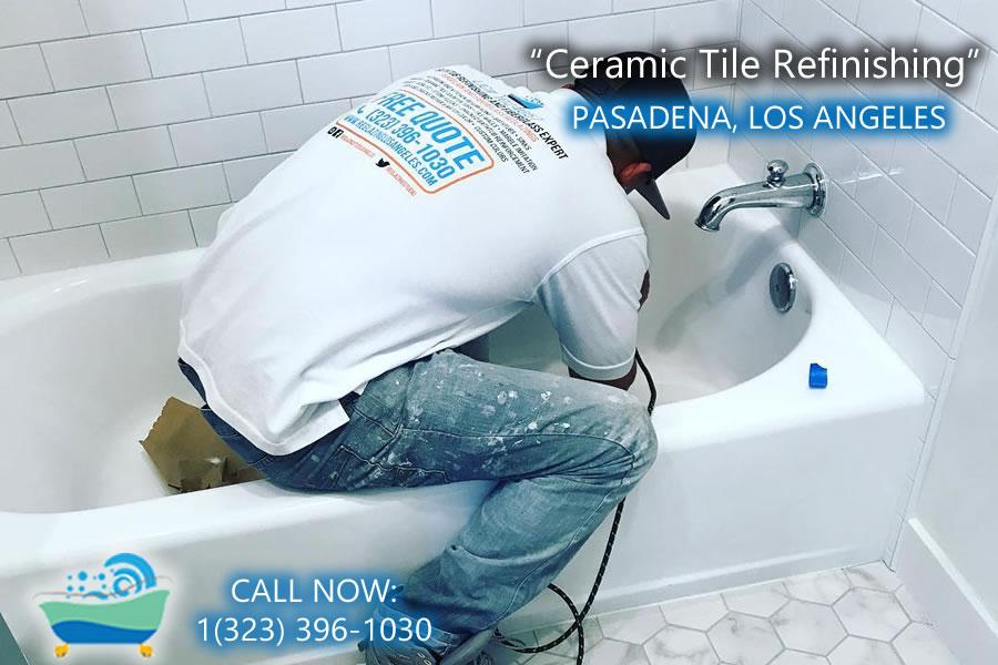 ceramic tile refiinishing pasadena