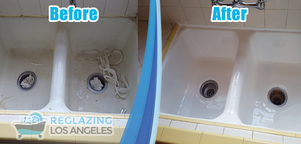 sink before after refinish service