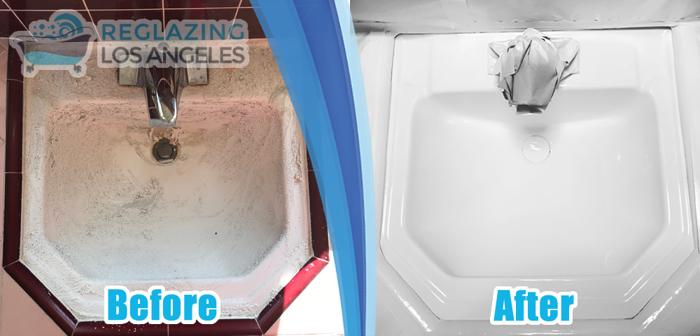 sink reglazing service before after