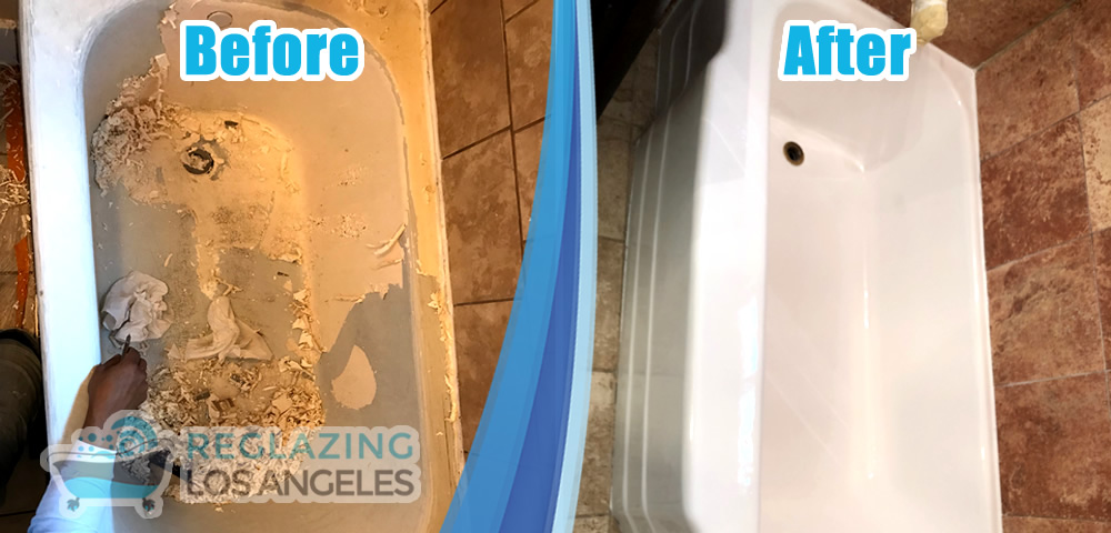 tub reglazing service before after