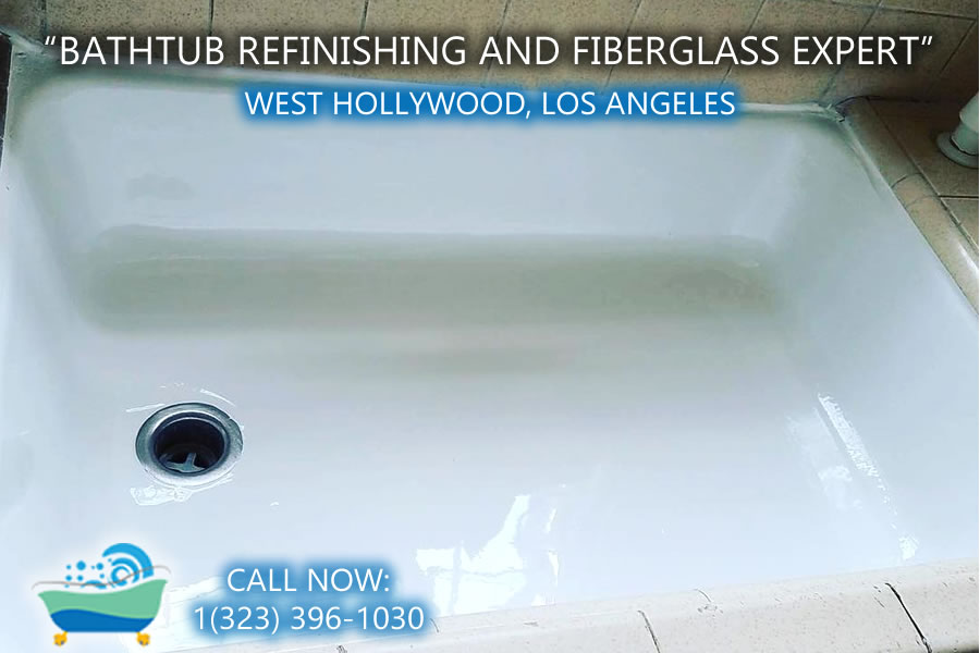 West Hollywood bathtub refinishing reglazing